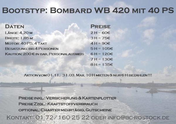 Fiskado - bootscharter rostock preise bombard 2018 600x423 - Bootscharter Rostock: Bootsverleih - geführte Bootstouren - Bootsservice - bootsverleih, bootstouren, bootsservice, angelausflug
