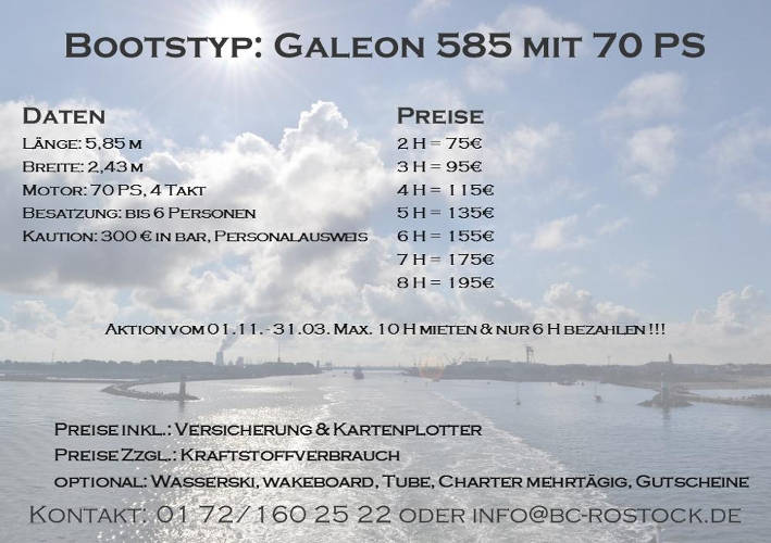 Fiskado - bootscharter rostock preise galeon 70 2018 - Bootscharter Rostock: Bootsverleih - geführte Bootstouren - Bootsservice - bootsverleih, bootstouren, bootsservice, angelausflug