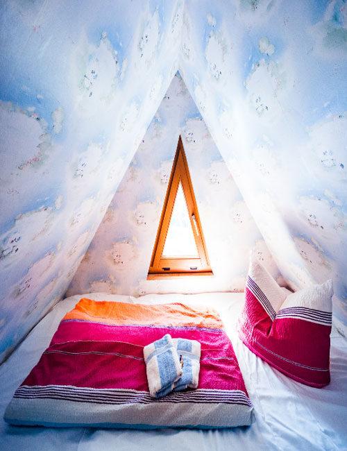 Himmelbett in der Pension Fischerhaus auf Usedom