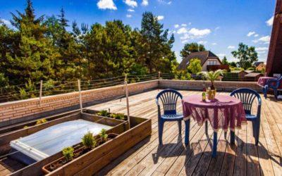 Terrasse einer Ferienwohnung der Pension Fischerhaus auf Usedom