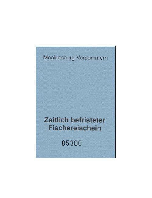 Musterexemplar eines Touristenfischereischeins für Mecklenburg-Vorpommern